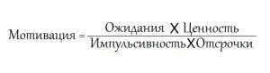 Формула мотивации - математический подход